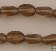 20 CZECH GLASS  BEADS-6x10MM TWSTD BARREL-SK TOP